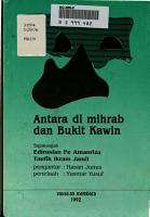 Antara di mihrab dan Bukit Kawin PDF