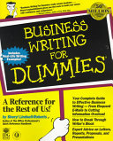Business Writing For Dummies  PDF