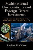 Multinational Corporations and Foreign Direct Investment PDF