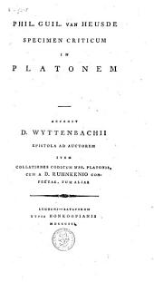 Specimen criticum in Platonem
