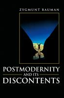 Postmodernity and its Discontents PDF