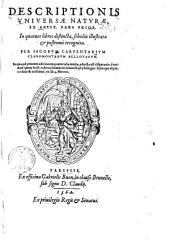 Descriptionis universae naturae ex Arist. pars ...: Pars prior