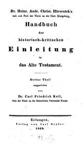 Handbuch der historisch-kritischen Einleitung in das Alte Testament: Band 3