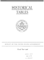 Historical Tables, Budget of the United States Government