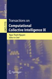 Transactions on Computational Collective Intelligence IX
