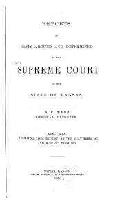 Kansas Reports: Volume 19