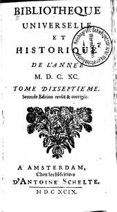 Bibliothèque universelle et historique: Volume17