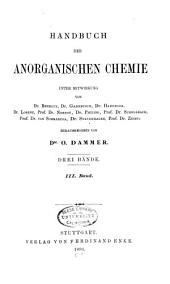 Handbuch der anorganischen chemie: Band 3