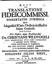 De translatione fideicommissi diss. iur