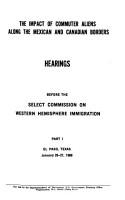 Impact of Commuter Aliens Along the Mexican and Canadian Borders PDF