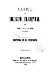 Curso de filosofía elemental: Historia de la filosofía