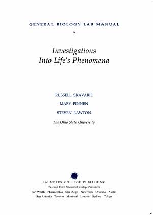 General Biology Lab Manual PDF