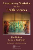 Introductory Statistics for the Health Sciences PDF