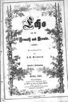 Echo aus der Heimath und Fremde PDF