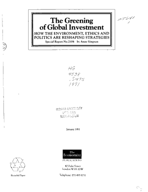 The Greening of Global Investment PDF