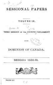 Sessional Papers of the Dominion of Canada: Volume 10; Volume 14, Issue 10