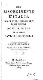 Del Risorgimento d'Italia: negli studi, nelle arti e nei costumi dopo il Mille, Volume 3