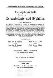 Vierteljahresschrift für Dermatologie und Syphilis: Band 17