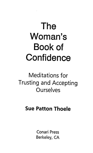 The Woman s Book of Confidence