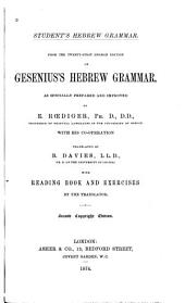 Student's Hebrew Grammar: From the 21st German Ed. of Gesenius's Hebrew Grammar