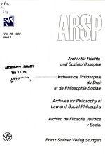 Archiv f  r Rechts  und Sozialphilosophie PDF