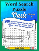 Word Search Puzzle Oasis Volume 3