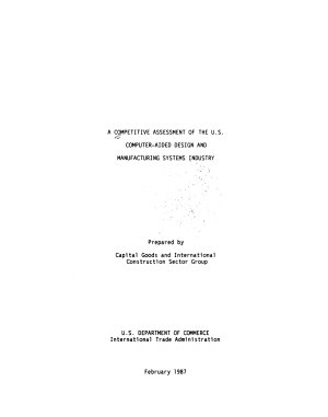 A Competitive Assessment of the U S  Computer aided Design and Manufacturing Industry PDF