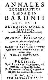 Annales ecclesiastici: accessit Baronii supplementum chronologicum ad Christi annum 1665, Volume 2