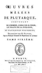 Oeuvres de Plutarque: Volume25