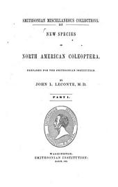 New Species of North American Coleoptera: Volume 1