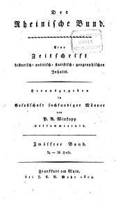 Der Rheinische Bund: eine Zeitschrift historisch-politisch-statistisch-geographischen Inhalts, Band 12