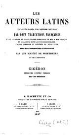 Cicéron. Discours contre Verrès sur les statues. (Expliqué littéralement et annoté par M. Z. [or rather, J. B.] Thibault. Traduction de P. C. B. Gueroult.).