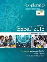Exploring Microsoft Office Excel 2016 Comprehensive PDF