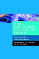Power, Participation and Political Renewal