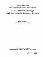 Pc Assembly Language Im/Tq
