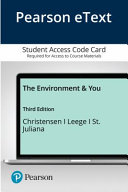 Pearson Etext the Environment and You Access Card