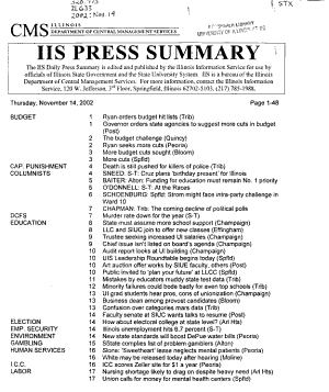 Press Summary   Illinois Information Service PDF