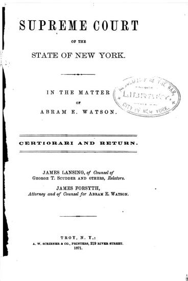 New York Court of Appeals  Records and Briefs  PDF