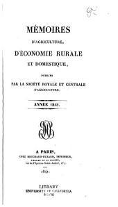 Memoires d'agriculture, d'economie rurale et domestique