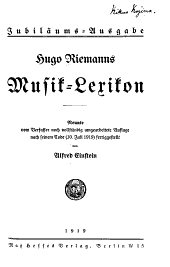 Hugo Riemanns Musik-Lexikon