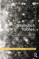 Statistics Tables PDF