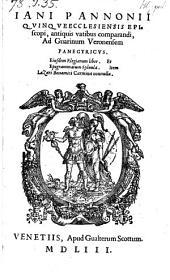 Ad Guarinum Veronensem panegyricus