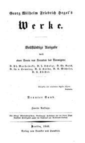 Georg Wilhelm Friedrich Hegel's Werke: Bd. Vorlesungen über die Philosophie der Geschichte