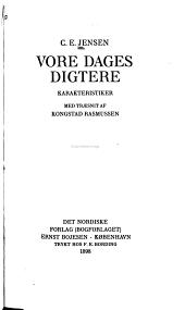 Vore dages digtere: karakteristiker, med træsnit af Kongstad Rasmussen