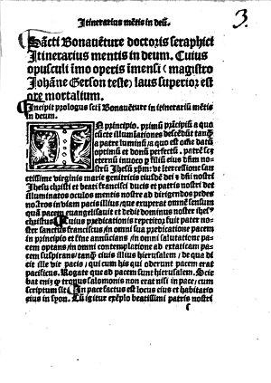 Itinerarium mentis in Deum PDF