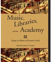 Music  Libraries  and the Academy PDF