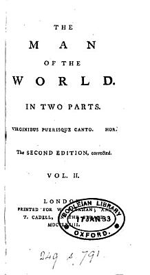 The man of the world  by H  Mackenzie