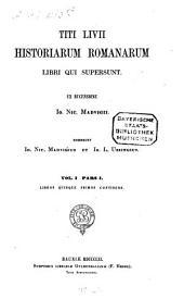 Historiae Romanae: Libros quinque primos continens, Volume 1, Issue 1