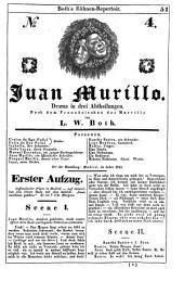 Juan Murillo: Drama in drei Abtheilungen