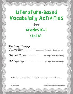 Literature Based Vocabulary Activities for Grades K 1  Set B